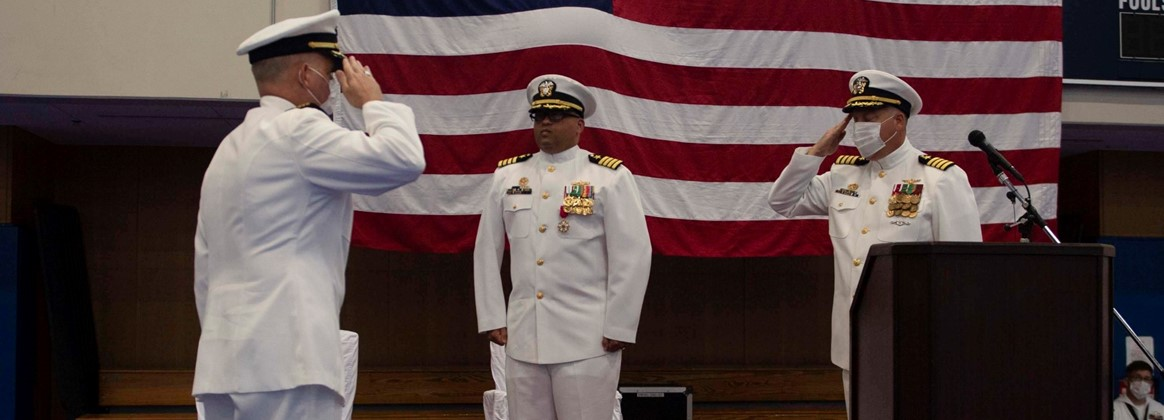 Mine Countermeasure Squadron SEVEN conducts Change of Command